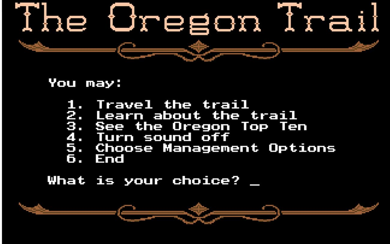 The Oregon Trail is listed (or ranked) 1 on the list '90s Computer Games You Remember Playing in 3rd Grade