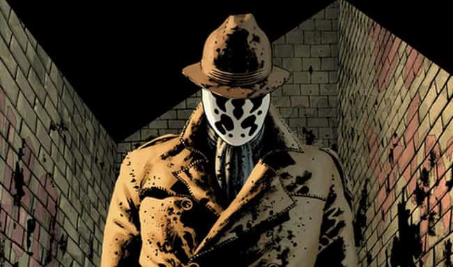 Rorschach is listed (or ranked) 3 on the list The Most Emo Marvel And DC Superheroes