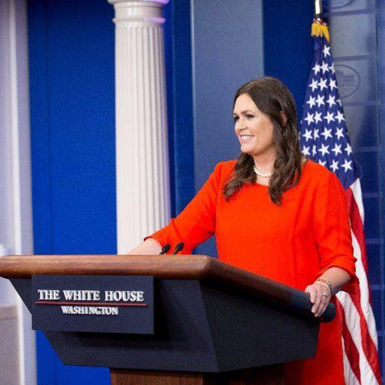 Sarah Sanders - Resigned is listed (or ranked) 63 on the list Everyone Who Has Been Fired Or Resigned From The Trump Administration So Far