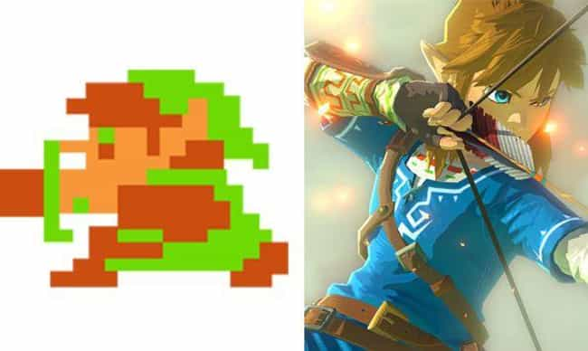 Link is listed (or ranked) 2 on the list The Evolution Of Your Favorite Video Game Characters Over Time