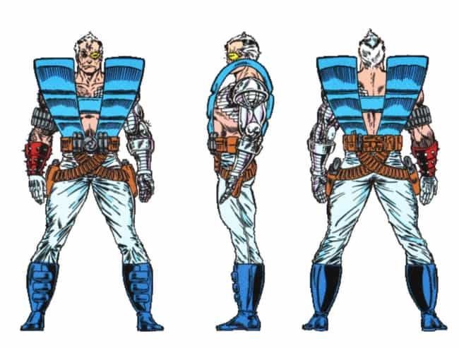 Cable is listed (or ranked) 4 on the list The Absolute Worst Superhero Costumes Ever