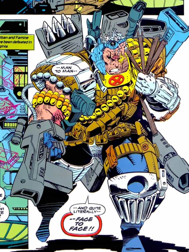 Cable is listed (or ranked) 3 on the list The Most X-TREME '90s Comic Book Characters