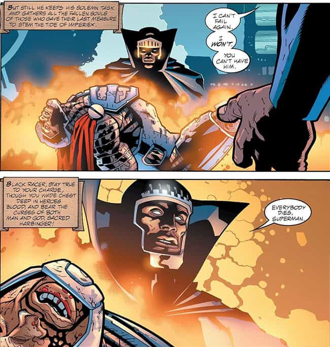 Steel is listed (or ranked) 4 on the list The Shortest Deaths In Comic Book History