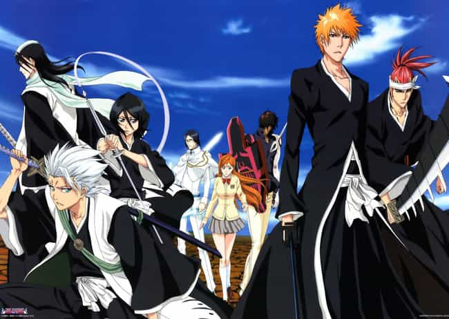 Bleach is listed (or ranked) 4 on the list The 13 Best Anime With A Large Cast of Characters