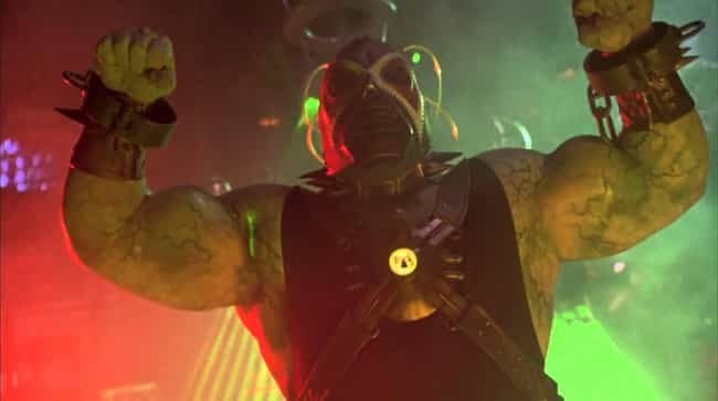 Bane is listed (or ranked) 4 on the list The Worst Comic Book Movie Super Villain Costumes