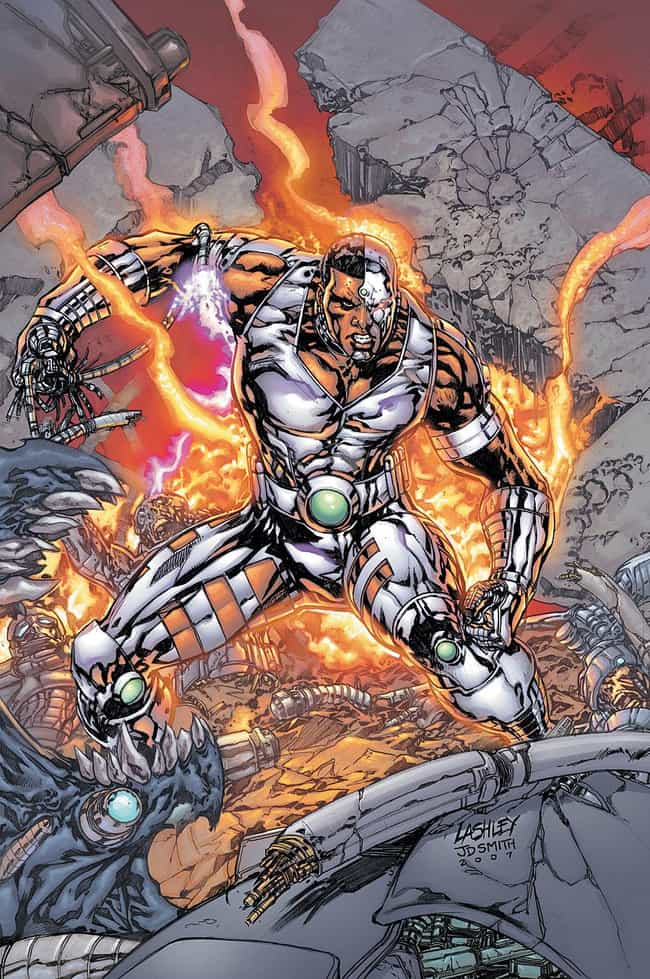 Cyborg is listed (or ranked) 4 on the list 23 Seemingly Disabled Superheroes & Villains