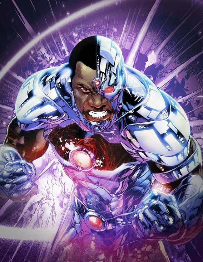 Cyborg is listed (or ranked) 3 on the list The Best Comic Book Characters Who Have Red Eyes