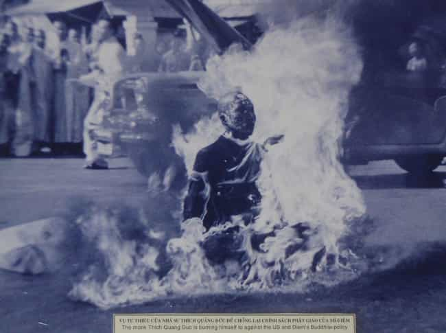 Thich Quang Duc is listed (or ranked) 1 on the list 14 People Who Have Committed Public Suicide
