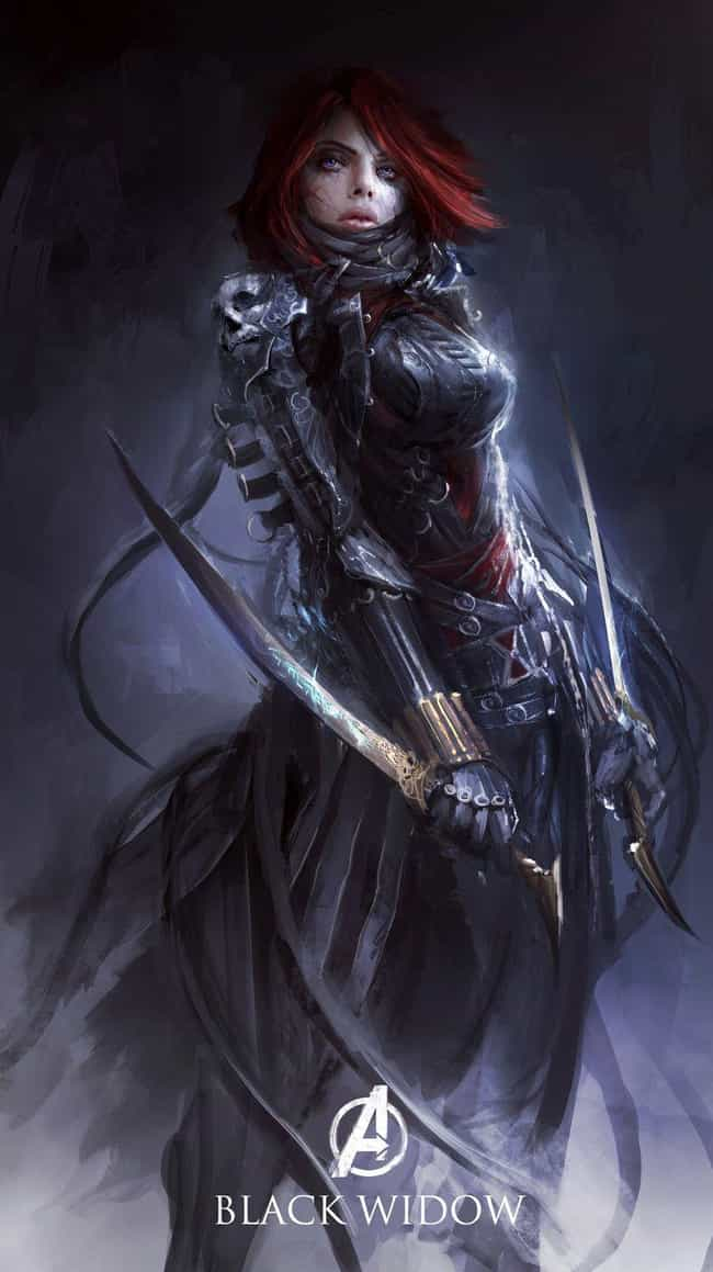 Black Widow is listed (or ranked) 2 on the list What The Avengers Would Look Like In Medieval Times