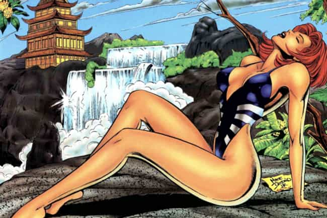 Black Widow is listed (or ranked) 1 on the list In The '90s, Marvel Made Its Own Version Of The 'Sports Illustrated' Swimsuit Edition