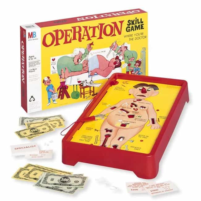 Operation is listed (or ranked) 4 on the list The Family-Friendly Milton Bradley Corporation Has A Bizarre History