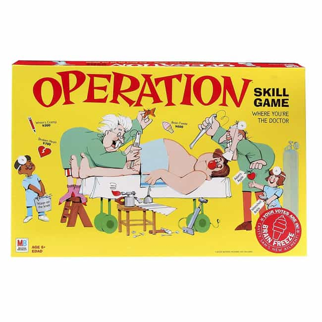 Operation is listed (or ranked) 1 on the list The Best Editions Of The Operation Board Game