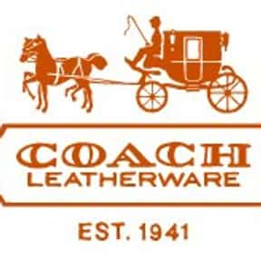 Coach, Inc. is listed (or ranked) 1 on the list The Best Leather Brands