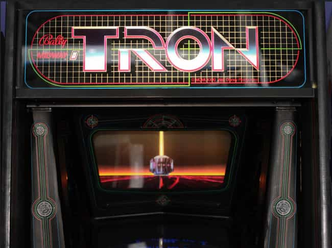 Tron is listed (or ranked) 2 on the list The Coolest Arcade Game Cabinet Art Ever!