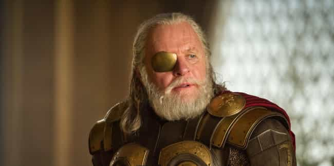 Odin is listed (or ranked) 7 on the list The Strongest Characters In The MCU, Ranked