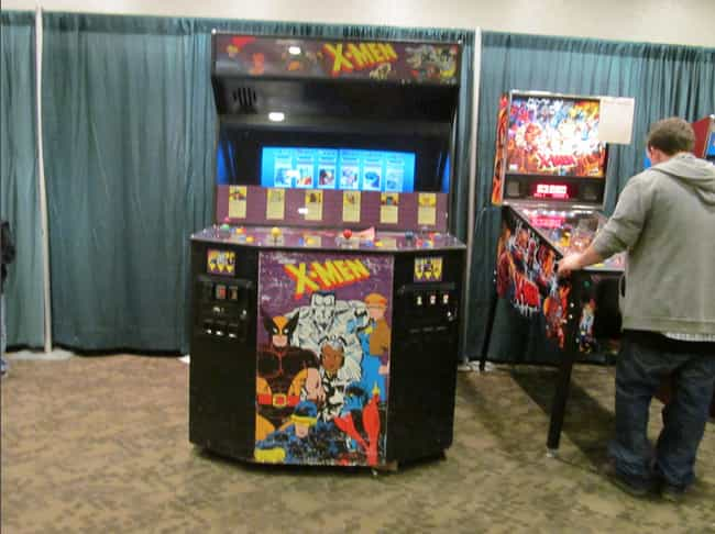 X-Men is listed (or ranked) 3 on the list The Coolest Arcade Game Cabinet Art Ever!