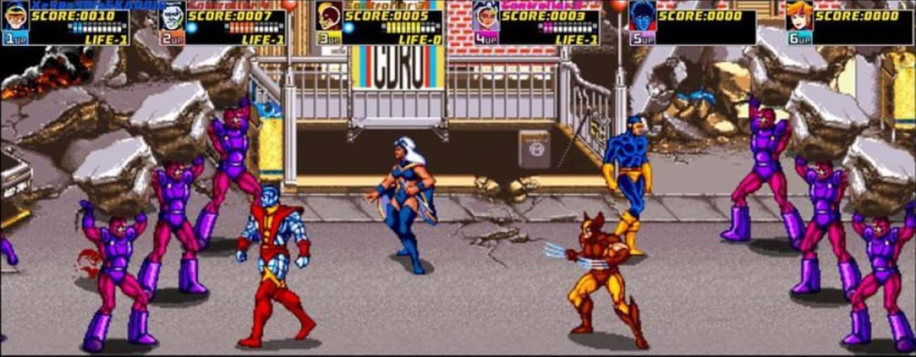 X-Men is listed (or ranked) 1 on the list The Greatest Games You Could Actually Beat at an Arcade