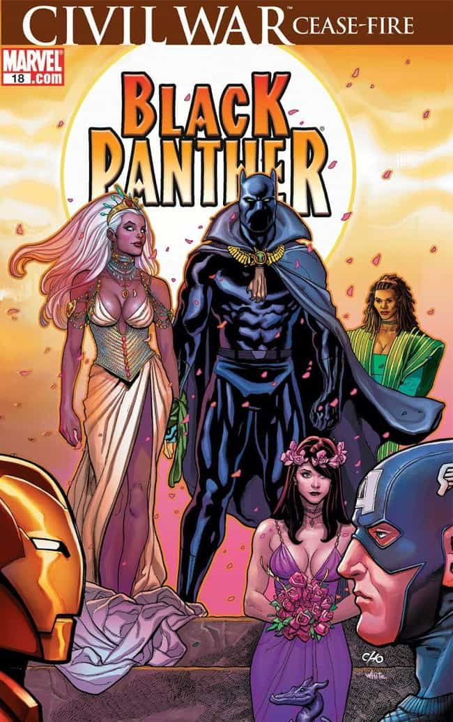 Black Panther is listed (or ranked) 2 on the list You Won't Believe Who These Comic Book Characters Married