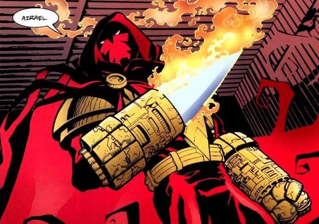"""8. It was known as the """"attitude era"""" of comic books in the 1990s. Nearly every character had an outrageous costume. In the Knightfall storyline, Jean-Paul Valley, aka Azrael, was Batman's replacement. A prime example of outrageous costume design was his costume before he took on the Bat's mantle."""