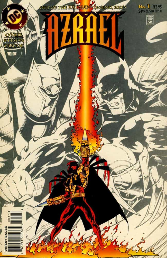 Azrael is listed (or ranked) 4 on the list The Most X-TREME '90s Comic Book Characters