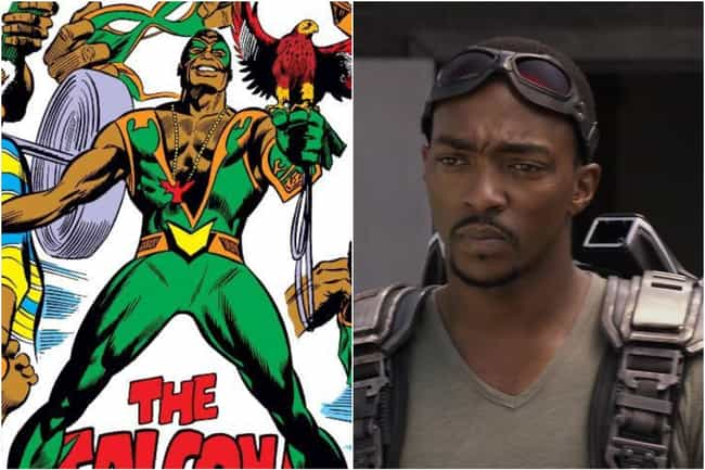 Sam Wilson (Falcon) is listed (or ranked) 6 on the list Marvel Characters Whose Comic Book Origin Stories Are Way More Upsetting Than The Movies Portrayed