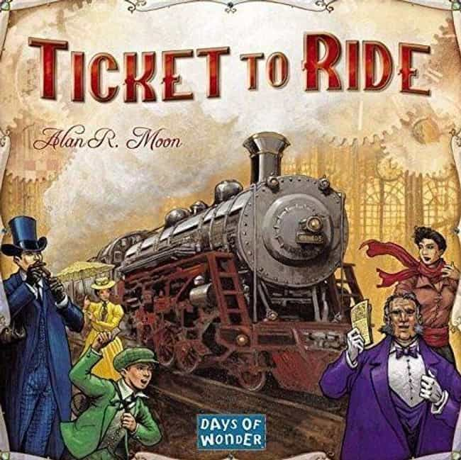 Ticket to Ride is listed (or ranked) 3 on the list The Most Popular 2 Player Board Games