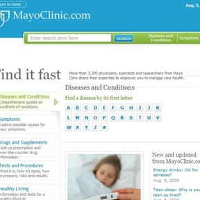 MayoClinic.com is listed (or ranked) 1 on the list The Best Medical News Sites