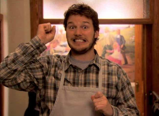 Andy Dwyer is listed (or ranked) 1 on the list The Most Harmless TV Heartthrobs