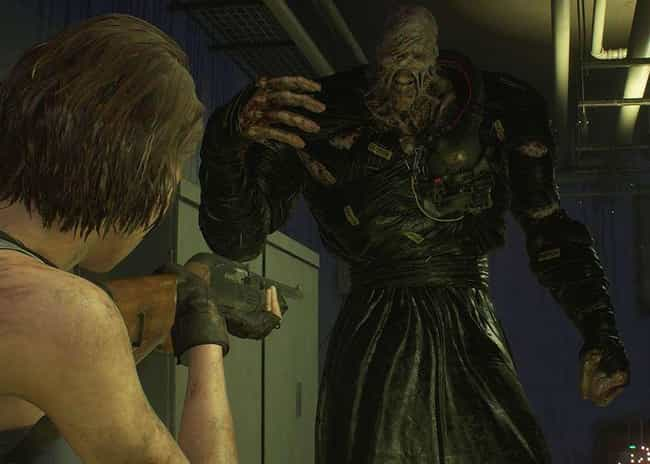 Nemesis is listed (or ranked) 1 on the list The Scariest Bosses In The 'Resident Evil' Series, Ranked