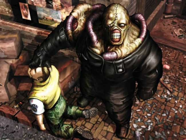 Nemesis is listed (or ranked) 4 on the list The Scariest Video Game Monsters Of All Time