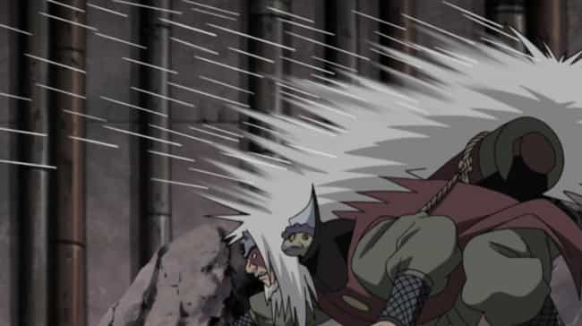 Jiraiya is listed (or ranked) 1 on the list 16 Anime Characters That Can Literally Kill With Their Hair