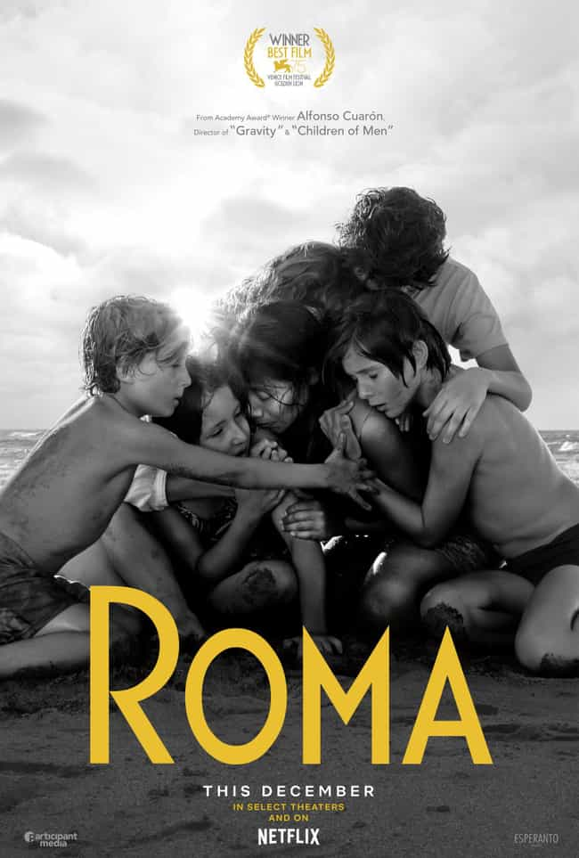 Roma is listed (or ranked) 3 on the list What Will Win Best Picture At The 2019 Oscars?