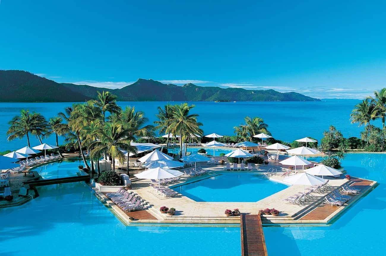 Hayman Island Resort Pool Bar  is listed (or ranked) 3 on the list The 35 Coolest Pools in the World