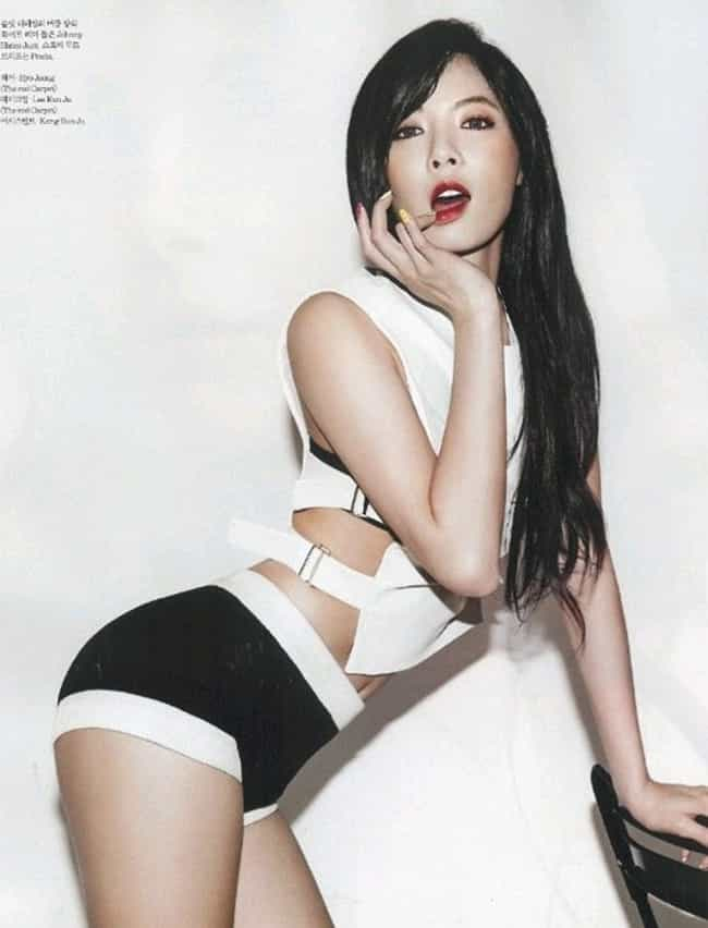 Hyuna is listed (or ranked) 4 on the list K-Pop Female Idols Before and After Plastic Surgery