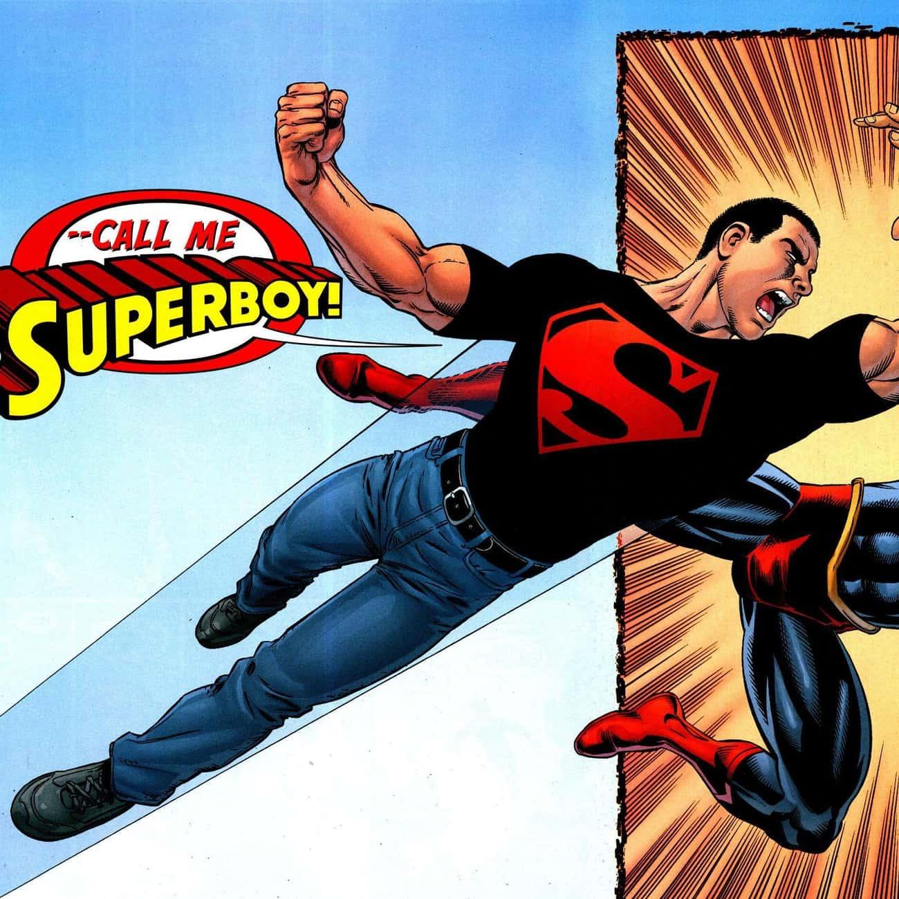 Superboy (Kon-El) is listed (or ranked) 3 on the list Half-Human Hybrid Heroes