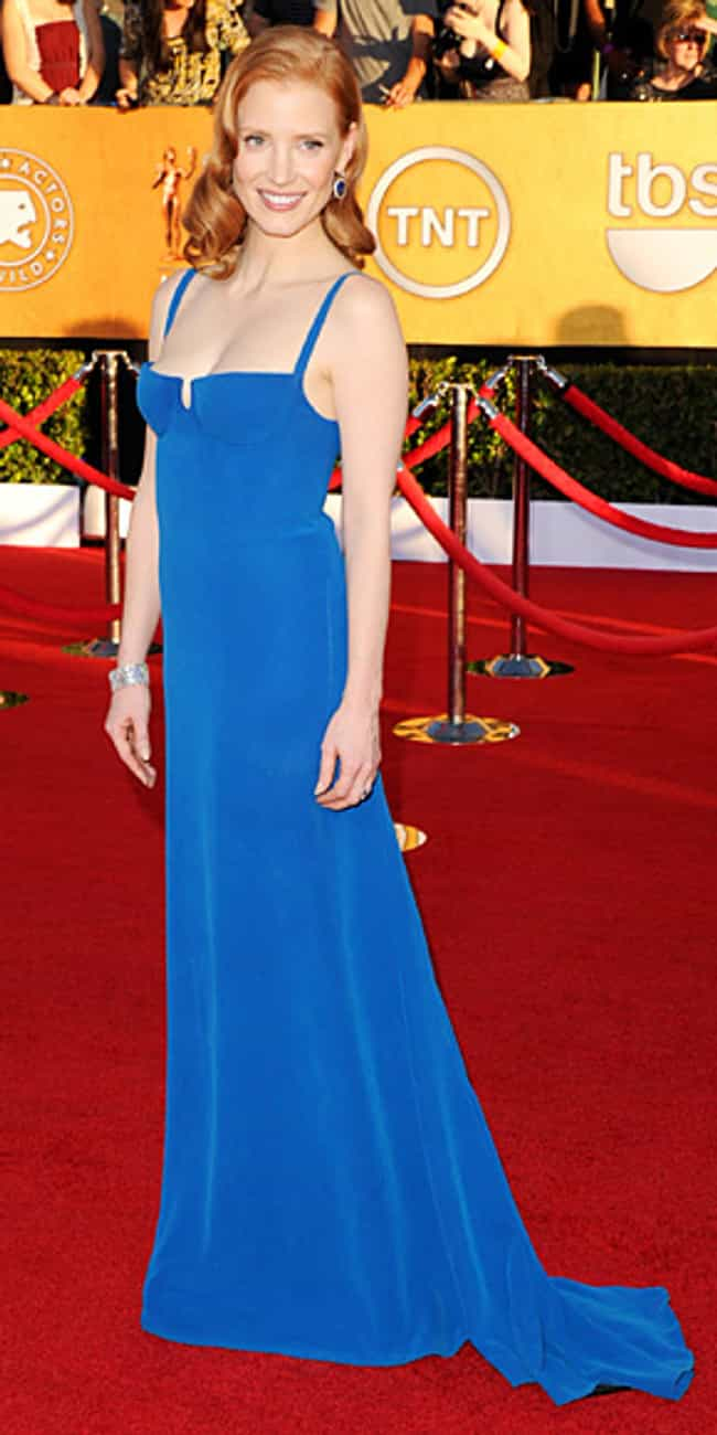 Jessica Chastain is listed (or ranked) 7 on the list Celebrities in Calvin Klein Dresses