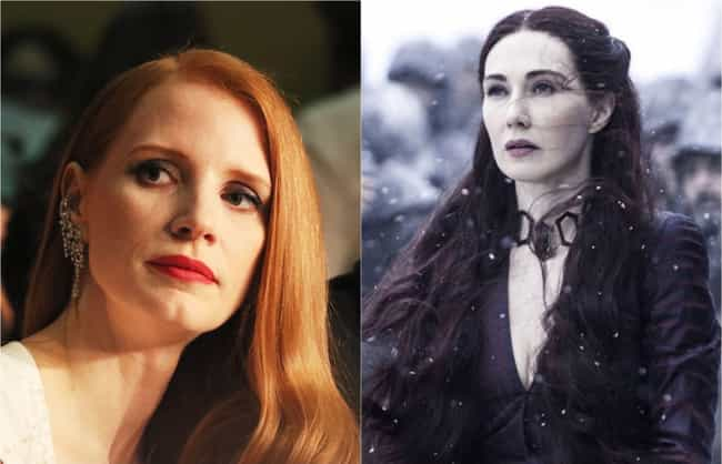 Jessica Chastain is listed (or ranked) 3 on the list Who Would Star In An Americanized 'Game Of Thrones'?