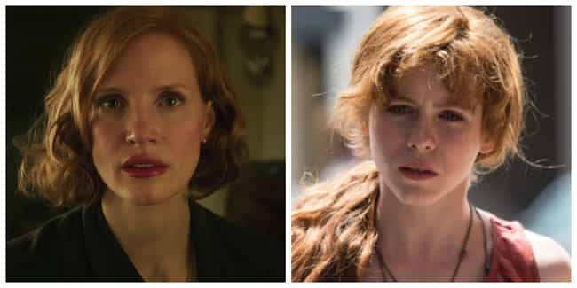 Jessica Chastain is listed (or ranked) 7 on the list The Adult Cast Of 'IT: Chapter Two' Vs. Their Younger Counterparts