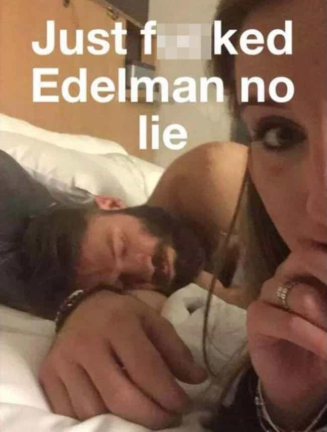 Julian Edelman is listed (or ranked) 7 on the list Groupies Who Took Pictures Of Celebs After Sleeping With Them