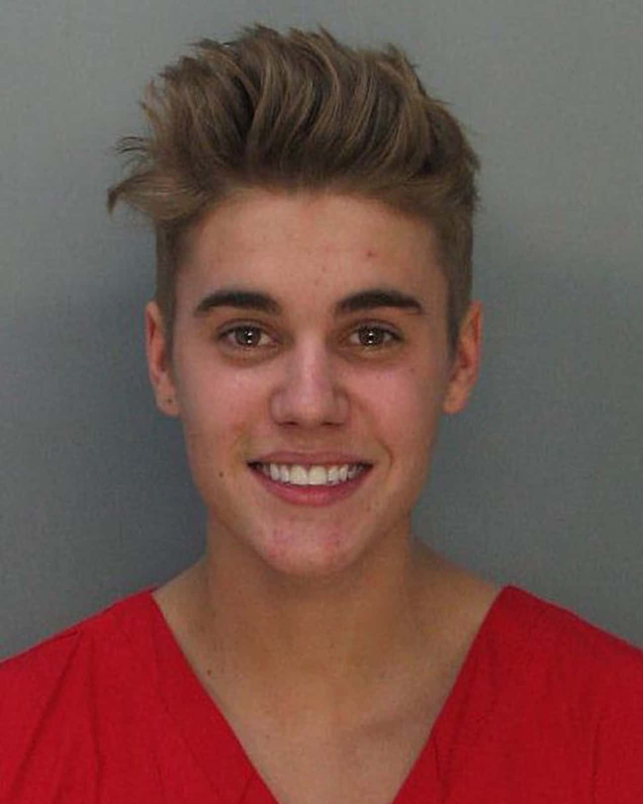 Justin Bieber is listed (or ranked) 1 on the list Full List of All Celebrity Mug Shots