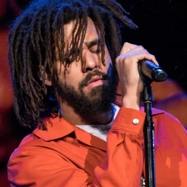 J. Cole is listed (or ranked) 3 on the list 25 Rappers Who Are Aquarius