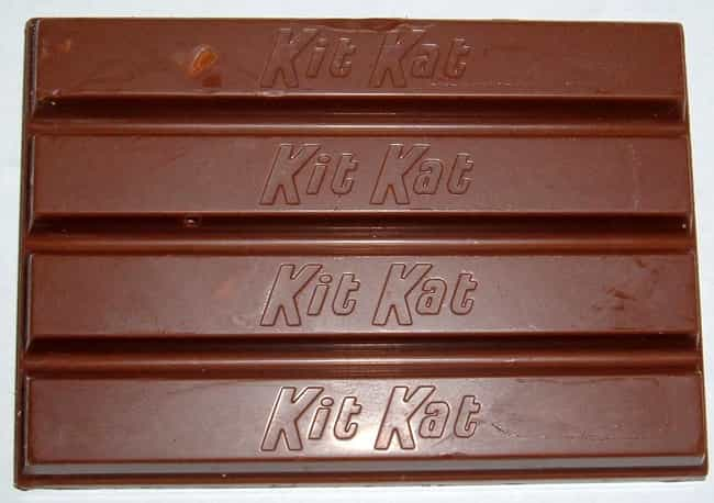 Kitkat is listed (or ranked) 3 on the list The Best Chocolate Products