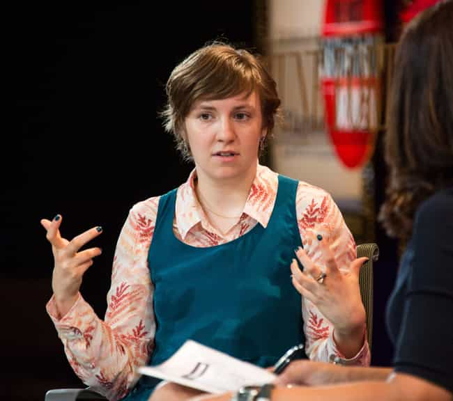 Lena Dunham is listed (or ranked) 4 on the list Great Actors Who've Been Nominated For Ludicrous Amounts Of Emmys And Never Won