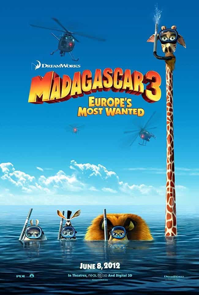 Madagascar 3: Europe's Most Wa... is listed (or ranked) 1 on the list The Best Movies (and Series) in the Madagascar Franchise, Ranked