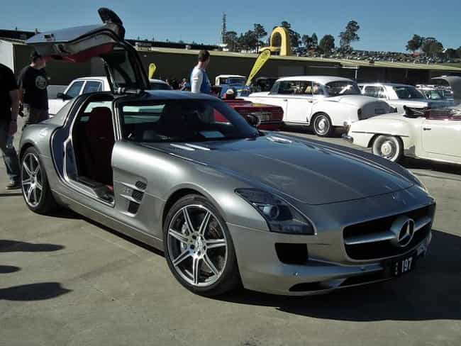 Mercedes-Benz SLS AMG is listed (or ranked) 1 on the list The Slickest Cars with Gull Wing Doors