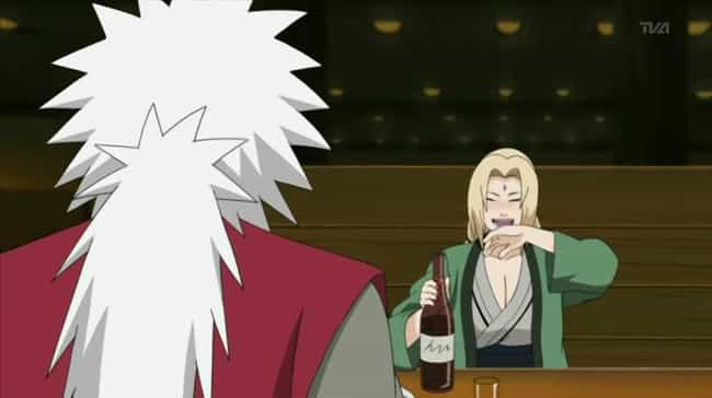 Tsunade is listed (or ranked) 2 on the list 14 Anime Characters You'd Want To Party With