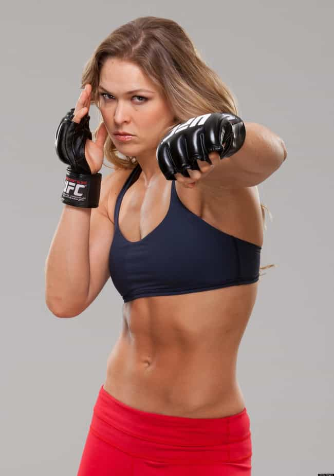 Ronda Rousey is listed (or ranked) 4 on the list Female Celebrities with the Sexiest Abs