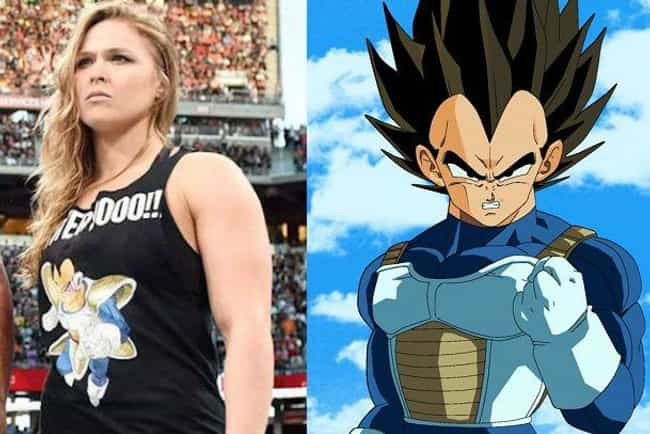 Ronda Rousey is listed (or ranked) 4 on the list 17 Celebrities Who Are Surprisingly Into Anime