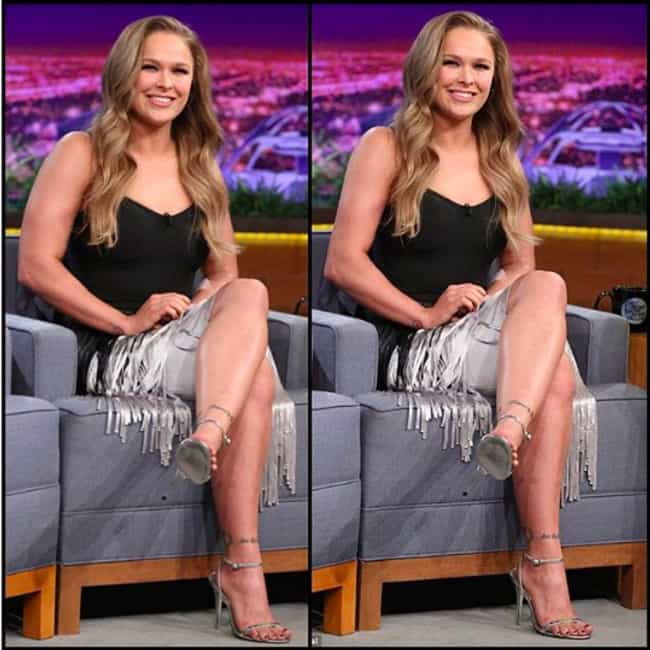 Ronda Rousey is listed (or ranked) 2 on the list Un-Retouched Photos of Famous Celebrities