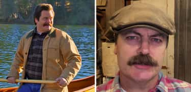 Ron Swanson is listed (or ranked) 2 on the list 'Parks and Recreation' Reunion: Five Years Later